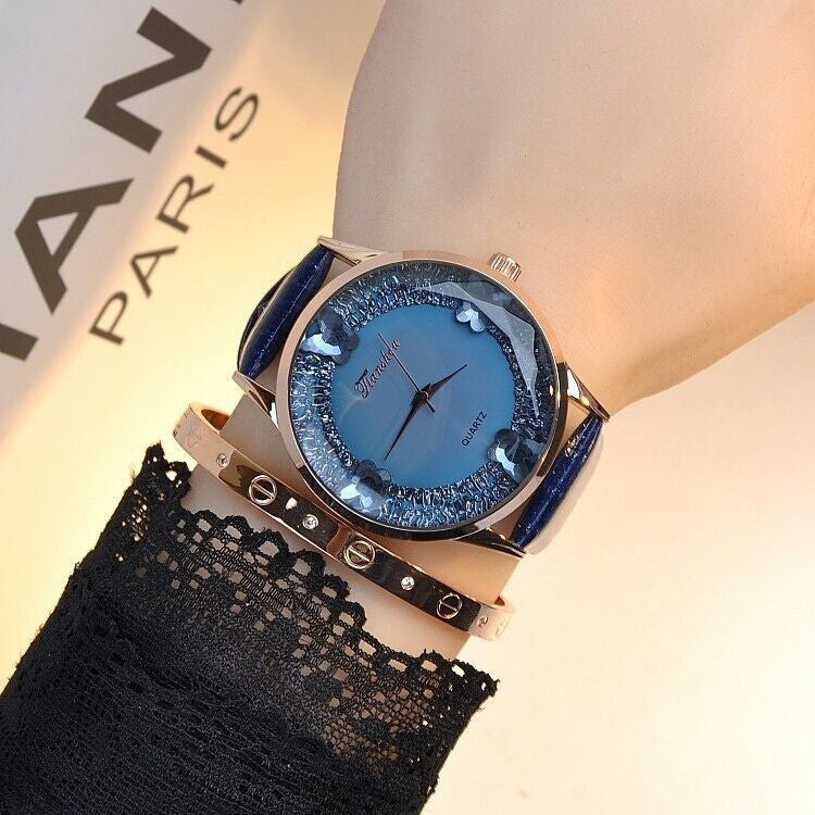 2016 New Fashion Luxury Brand Large Dial Diamond Watch