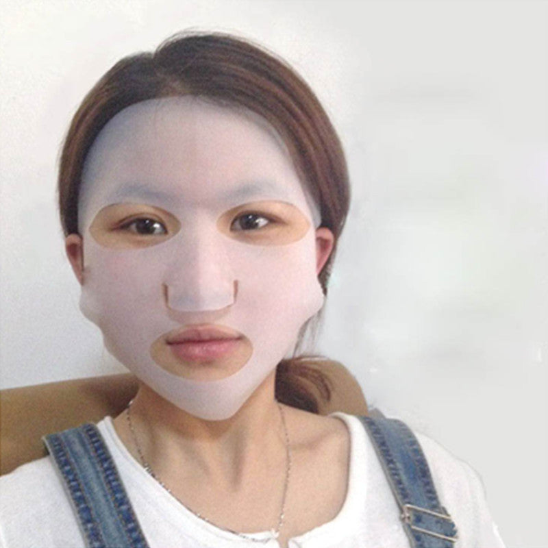 1 Pcs New Silicone Face Mask Cover Prevent Mask Essence Evaporation Speed Up The Absorption Moisturizing Facial Mask Cover - Gifts Leads