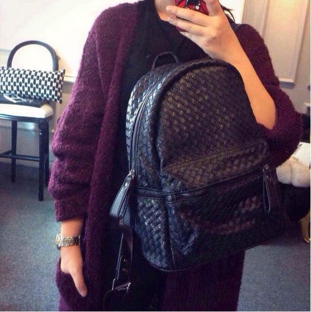 2016 Fashion Women's Genuine Leather Backpack