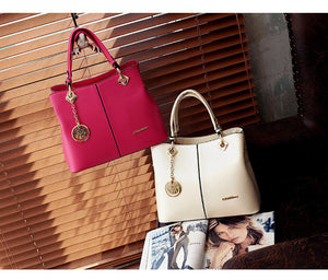 Spring Handbag New Fashion PU Leather Women Big Shoulder Bags Zipper Soft Ladies Bag High Quality Bolsas Femininas Neverfull