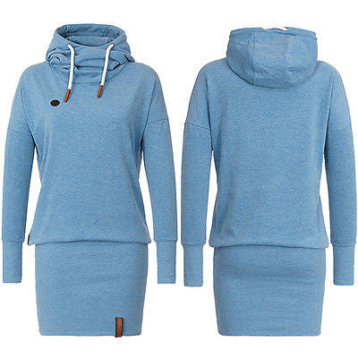Autumn Spring Dress  2016 Women Hooded Hoody Sweatshirt