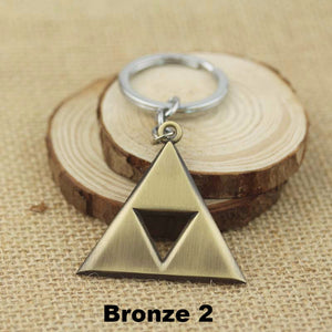 Anime Game The Legend of Zelda Matal Pendant Necklace The Triangle Mark Necklace Pendant 3 Colors
