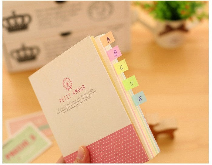 5 Piece, Fresh Rainbow Color Memo Pad Sticky Notes Memo Notebook Stationery Papelaria Escolar School Supplies