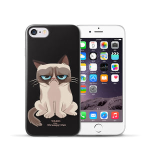 For iPhone 7 Case Cute Cartoon Pattern Cover For Apple iphone 7 Plus Capa Phone Back Case Cover Fundas
