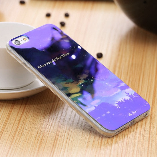 Modern Blue Ray Light Clear Mobile Phone Case For iPhone 7 6 6S 6 Plus 6S Plus Transparent Cover For iPhone 6 6S 5S SE