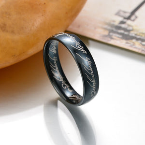 One Ring of Power Gold Silver Black The Lord of Rings Women Finger Wedding Brand Fashion Jewelry Accessory