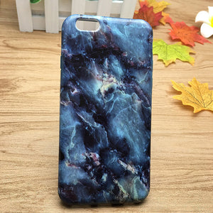 Fashion Cartoon Animal Marble Phone Case For iPhone 7 6 6S Plus 5s SE Soft or Hard Smooth Cover For iPhone 6 7 6S 5 Capa
