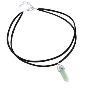 17KM 9 Colors Black Leather Natural Stone Tattoo Choker Necklace for Women Fashion Turquoise Beads Boho Gothic Jewelry Gift