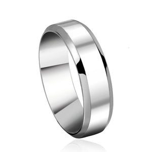 Silver Color Stainless Steel Men's 2017 Fashion Man Ring Cool Man's High Polished Man's Wedding Ring
