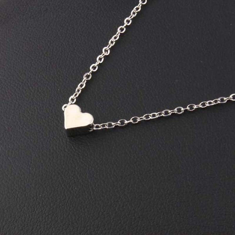 3 pieces Trendy Tiny Heart Short Pendant Necklace Women Gold Plated Chain Lover Lady Girl Gifts Bijoux Fashion Jewelry