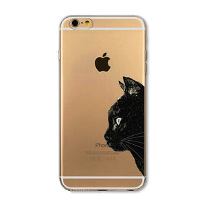 Phone Case For Apple iPhone 6 6S 6Plus 6s Plus 4 4S 5 5S SE 5C Soft TPU Silicon Transparent Cover Cute Cat Owl Animal Cases