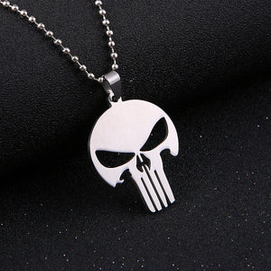 Fashion Silver chain Men Necklaces Jewelry Slippy Bat Batman Sign Pendant Stainless Steel Pendant with Chain Necklace
