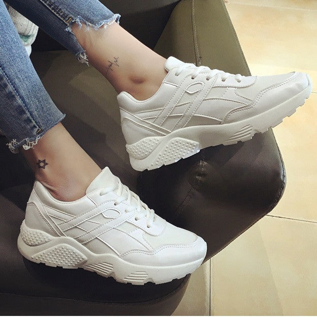 Women Casual Shoes Fashion Trainers Summer Wedges Canvas Shoes Lace-Up Tenis Ladies Shoes Brand Chaussure Femme No Logo