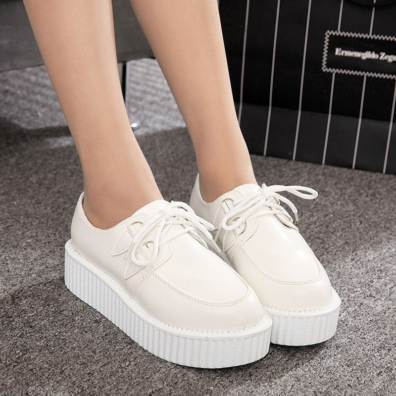 Creepers Shoes Woman plus size 35-41 platform Women Flats Shoes 2017