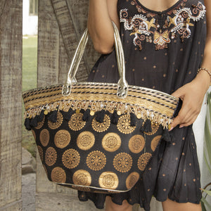 Black and gold bag