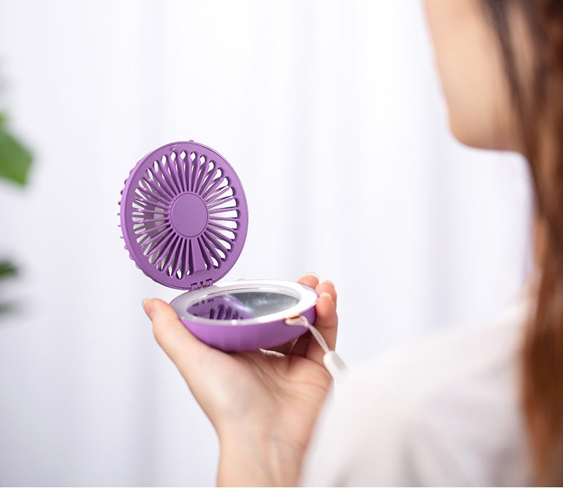 Pocket Fan with LED Mirror