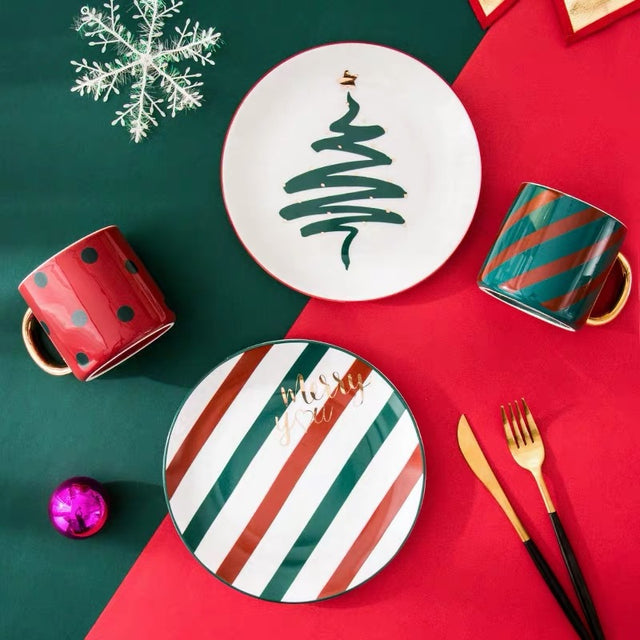 Christmas Cup and Plate