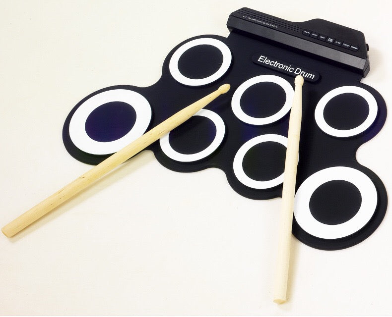 Electronic Drum Set - Foldable Silicone Material