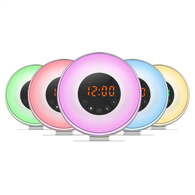 LED Alarm Clock Wake Up Light (Sunrise Simulation With USB Charger)