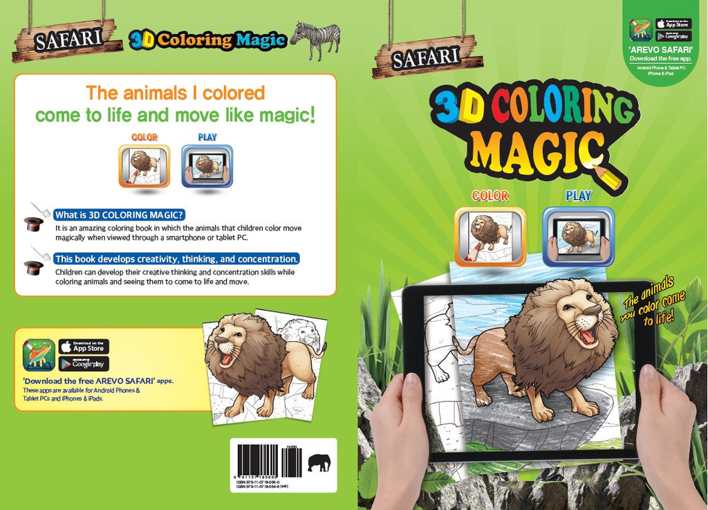 3D Magic Colouring Book