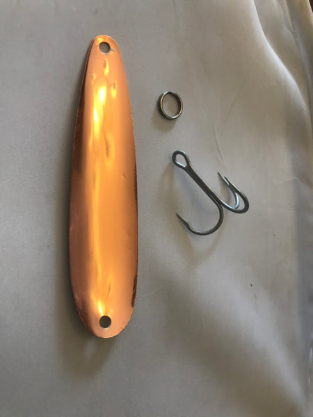 Copper Shad fishing spoon for trolling