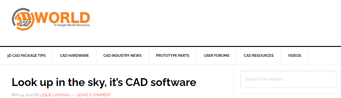 3DCADWorld - Look up in the sky, it's CAD software