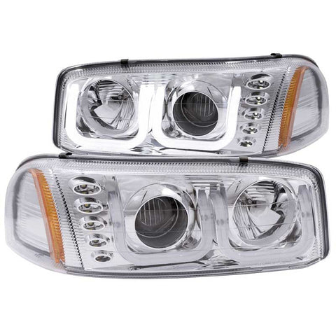 Anzo 111304 Chrome U-Bar Style Projector Headlights