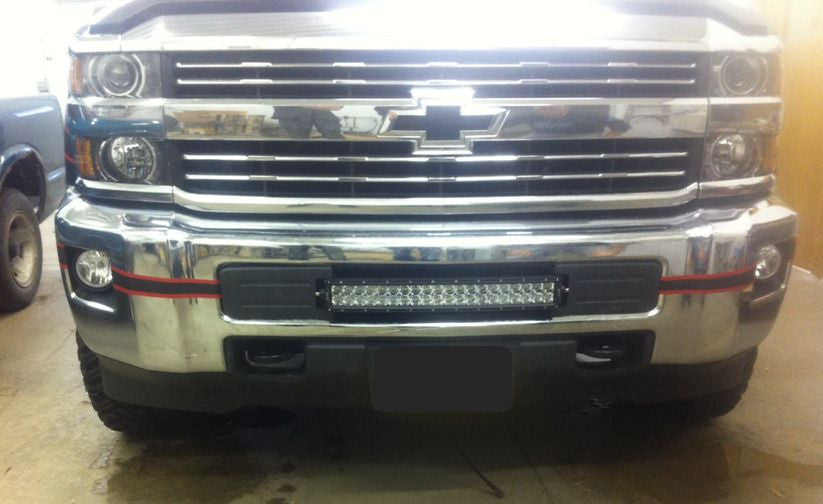 20 inch cbar offroad led light bar bumper kit for 2015 silverado 20 inch cbar offroad led light bar bumper kit for 2015 silverado 2500 mozeypictures Image collections