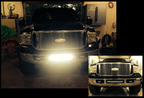 20 inch LED Light Bar Bumper Kit For Ford Super Duty 05-08
