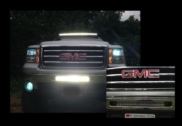 20 inch offroad led light bar bumper kit for 2003 2013 gmc sierra 20 inch offroad led light bar bumper kit for 2003 2013 gmc sierra aloadofball Image collections