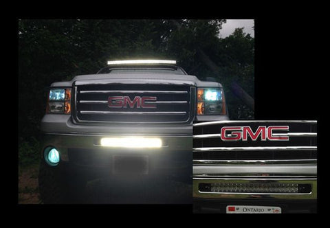 20 inch Offroad LED Light Bar Bumper Kit for 2003-2013 GMC Sierra