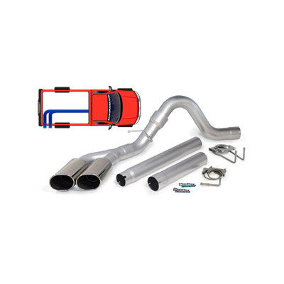 Banks Power 4978X Single Monster Exhaust w/ Dual Tips