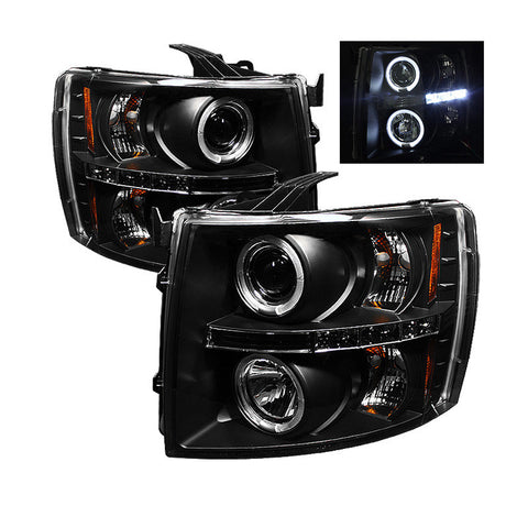 Spyder 5009494 Black Projector Headlights w/ LED Halo