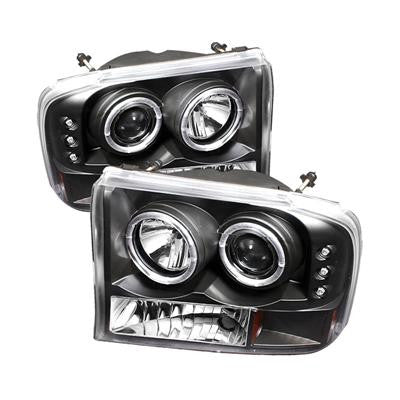 SPYDER 5010339 BLACK 1-PC. PROJECTOR HEADLIGHTS W/ LED HALO