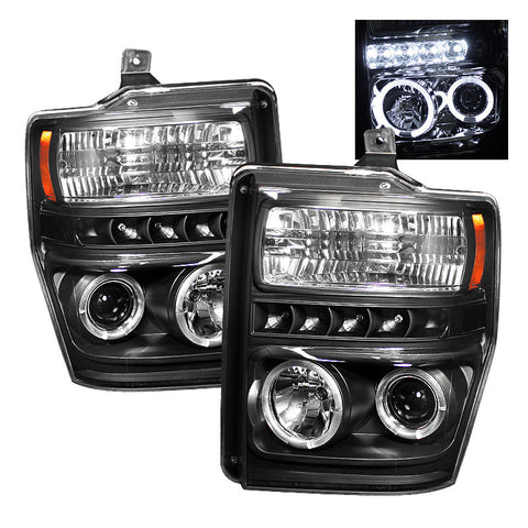 Spyder 5010575 Black Projector Headlights w/ LED Halo