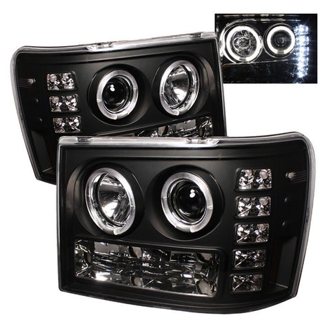 Spyder 5010605 Black Projector Headlights w/ LED Halo