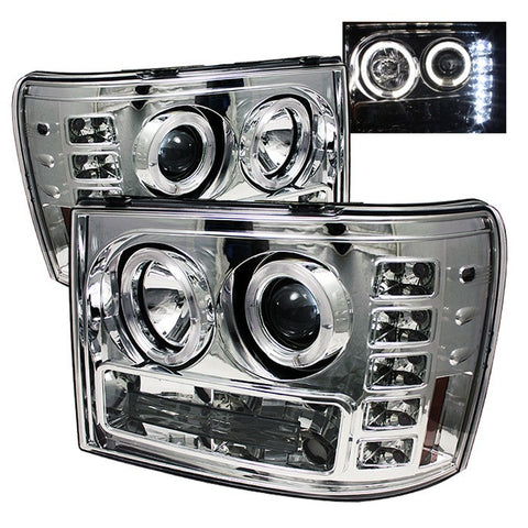 Spyder 5010612 Chrome Projector Headlights w/ LED Halo