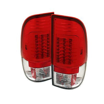 SPYDER 5029140 RED/CLEAR LED TAIL LIGHTS