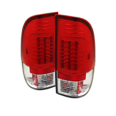 Spyder 5029195 Red/Clear LED Tail Lights