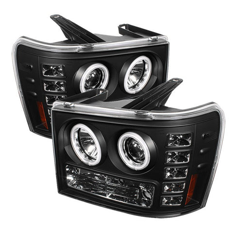 Spyder 5030184 Black Projector Headlights w/ CCFL Halo