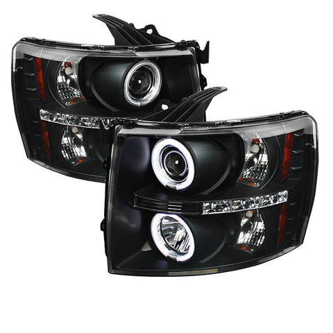 Spyder 5033864 Black Projector Headlights w/ CCFL Halo
