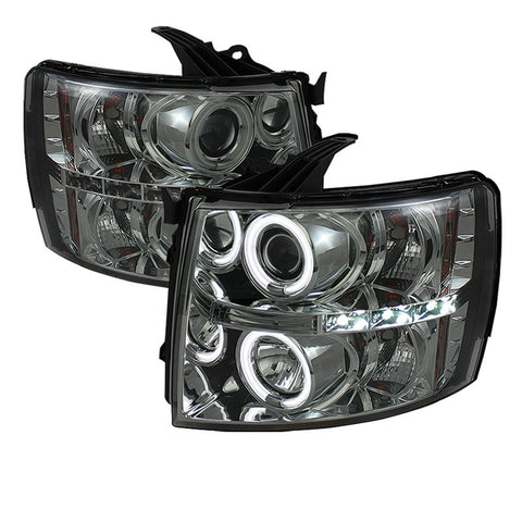 Spyder 5039767 Smoked Projection Headlights w/ CCFL Halo