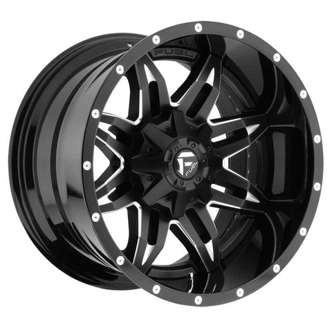 Fuel Off-Road Lethal Wheel - 2-Pc. Black & Milled