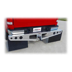 RockStar A1000011 Mill Finish Hitch Mounted Mud Flaps