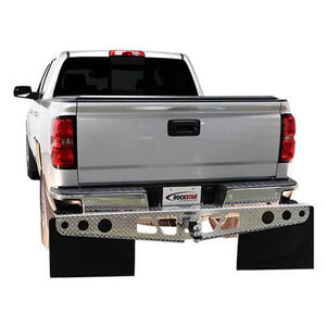 "RockStar A1000012 Diamond Plate Finish Hitch Mounted Mud Flaps (24"" X 24"")"