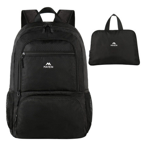 Matein Goff Hiking Foldable Lightweight Backpack - Black