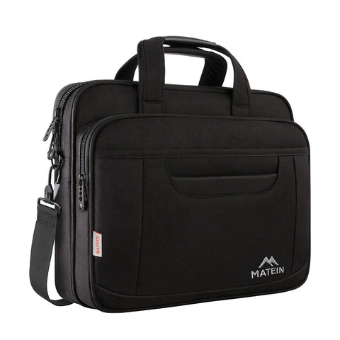 "Matein Murcia Laptop Briefcase Bag (Fits Up to 17"") - Black"