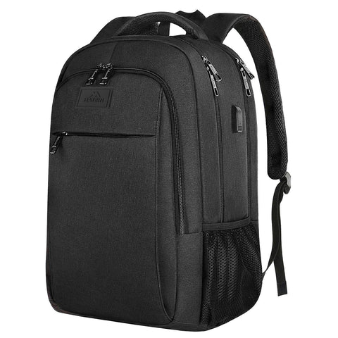 "Matein Mlassic Anti-Theft Laptop Backpack w/ Charging Port (Fits 15.6"") - Black"