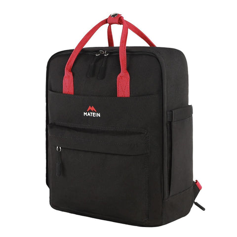 "Matein Marvy Campus Backpack Water Resistant (Fits 13"" Laptop) - Black"