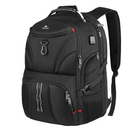 Matein Maokai Checkpoint Friendly Large Anti-Theft Travel Backpack - Black